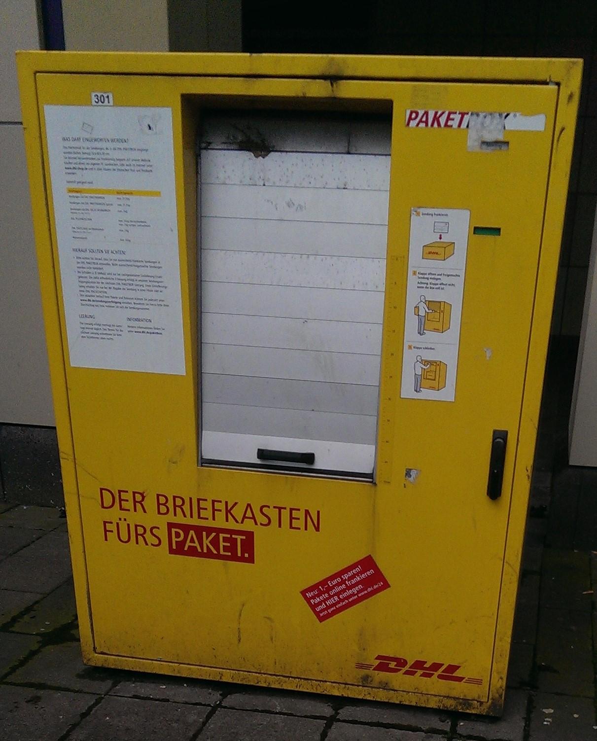 Briefkästen Saarbrücken paketbox dhl saarbrücken